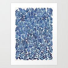 Indigo blues Art Print