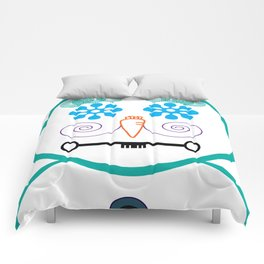 Fun with shapes snowman Comforters