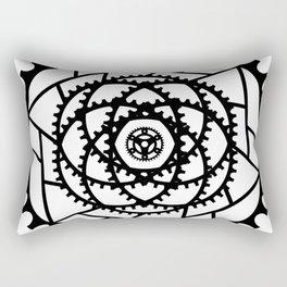 Bike Mandala Gears Rectangular Pillow
