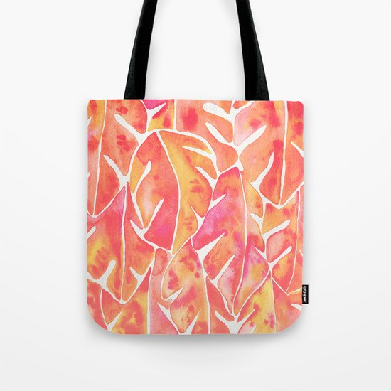 Split Leaf Philodendron – Melon Palette Tote Bag