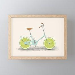 Acid (Blue) Framed Mini Art Print