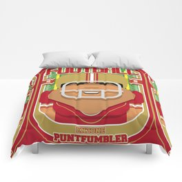 American Football Red and Gold - Enzone Puntfumbler - Seba version Comforters