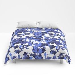 Indigo Floral Comforters