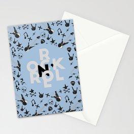 Rock N' Roll Forever (light blue) Stationery Cards