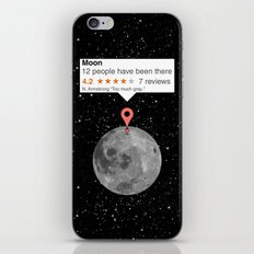 If moon was a place iPhone & iPod Skin