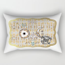 Mystification Fascination in Silver and Gold Rectangular Pillow