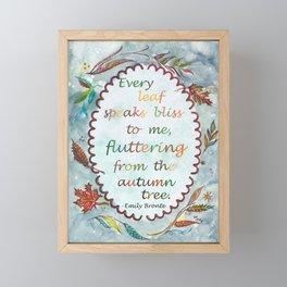 Brontë Quote Framed Mini Art Print