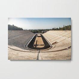 Panoramic View of the Panathenaic Stadium Metal Print