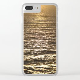 Sun ray on the sea Clear iPhone Case