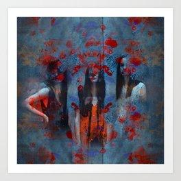 Abstract three women Art Print