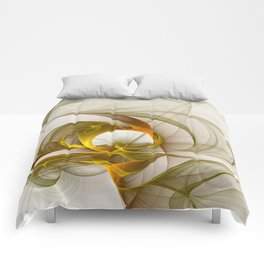 Fractal Art Precious Metals, Abstract Graphic Comforters