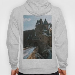 Fairytale Castle in a winter forest in Germany - Landscape and Architecture Hoody