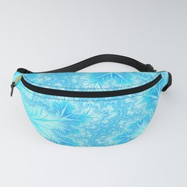 Abstract Christmas Aqua Blue Branches. Cute nature pattern Fanny Pack