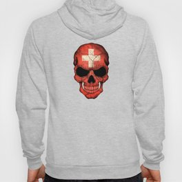 Dark Skull with Flag of Switzerland Hoody