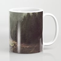 norway Mugs featuring Foggy Forest Creek by Kevin Russ