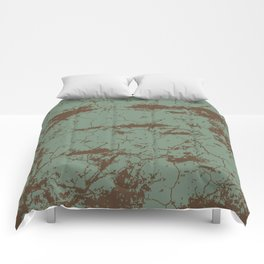 cracked concrete vintage wall background,old wall Comforters