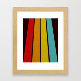 Retro Lines Framed Art Print