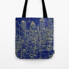 London! Navy Tote Bag