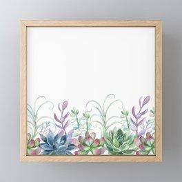 Succulents in The Garden Framed Mini Art Print