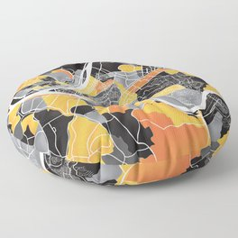 Pittsburgh Map Floor Pillow