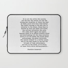 Man In The Arena Theodore Roosevelt Quote Laptop Sleeve