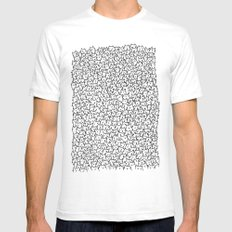 A Lot of Cats White MEDIUM Mens Fitted Tee