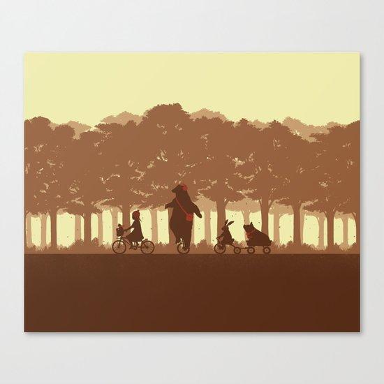 Biking with Friends Canvas Print