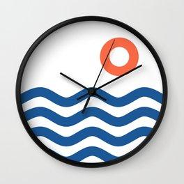 Nautical 02 Seascape Wall Clock