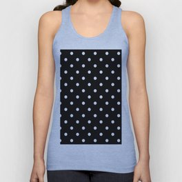 Black & White Polka Dots Unisex Tank Top