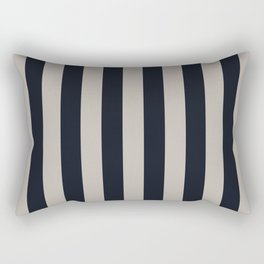 Vertical Stripes Black & Warm Gray Rectangular Pillow
