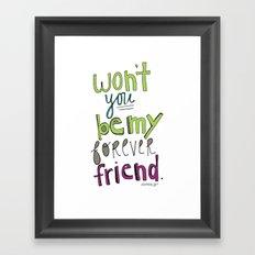 Forever Friend Framed Art Print