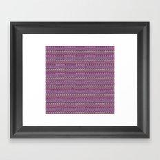 Multicolor Aztec pattern Framed Art Print
