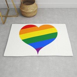 LGBT Rainbow Heart Rug