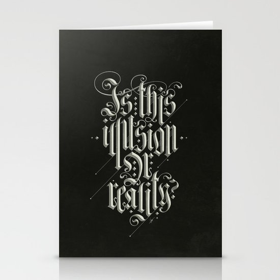 Is This Illusion Or Reality? Stationery Cards