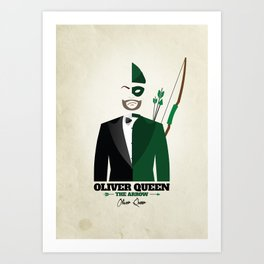 Arrow Artwork - Oliver Queen Art Print