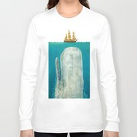 art Long Sleeve T-shirts featuring The Whale  by Terry Fan