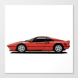 Red Sports Car Canvas Print