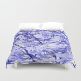 Light Blue Violet Abstract Duvet Cover