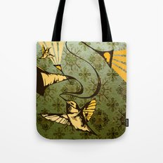 analog zine - song bird Tote Bag