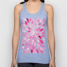 Watercolor brush strokes - pink Unisex Tank Top