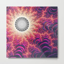 Occurrence in the Aether: The Cosmic Fractal Shapes a New World Metal Print