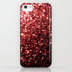 Beautiful Glamour Red Glitter sparkles Slim Case iPhone 5c