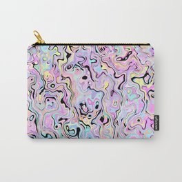 Marbled Pastel Carry-All Pouch