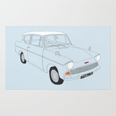 Weasley's Flying Ford Anglia Rug
