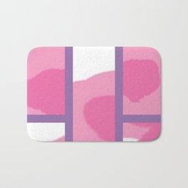 Expressive Windows of Purple Bath Mat