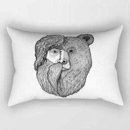 Wild Bear-Man Rectangular Pillow