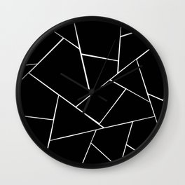 Black White Geometric Glam #2 #geo #decor #art #society6 Wall Clock