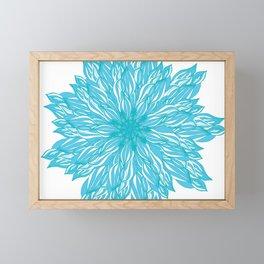 Blue flow er Framed Mini Art Print