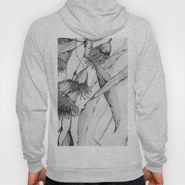 Watercolor Flowers (Black and White) Hoody