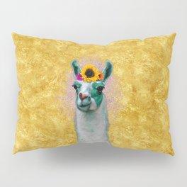 Flower Power Llama Pillow Sham